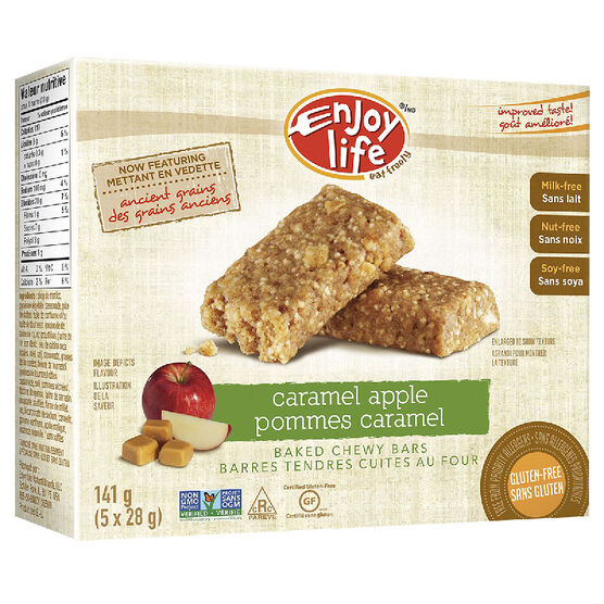 Enjoy Life Gluten Free Baked Chewy Bars - Caramel Apple - 141g