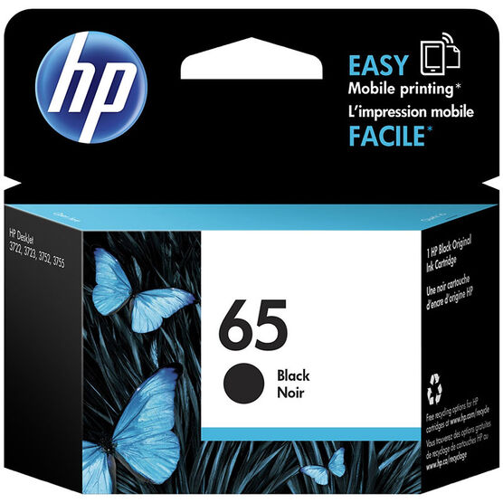 HP 65 Ink Cartridge - Black - N9K02AN#140