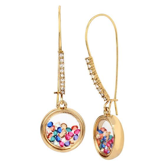 Betsey Johnson Confetti Shaky Shepherd Hook Earrings - Multi