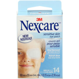 Nexcare Sensitive Skin Eye Patch - Regular Size - 14's