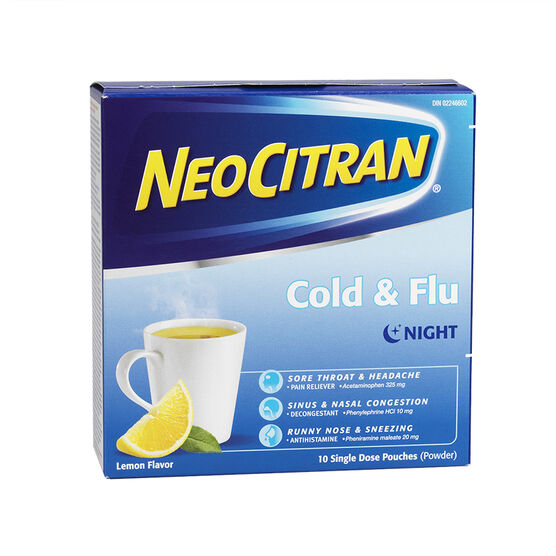 NeoCitran Cold & Flu - Lemon - 10's