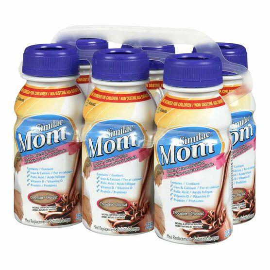 Similac Mom Nutritional Beverage - Chocolate - 6 x 235ml