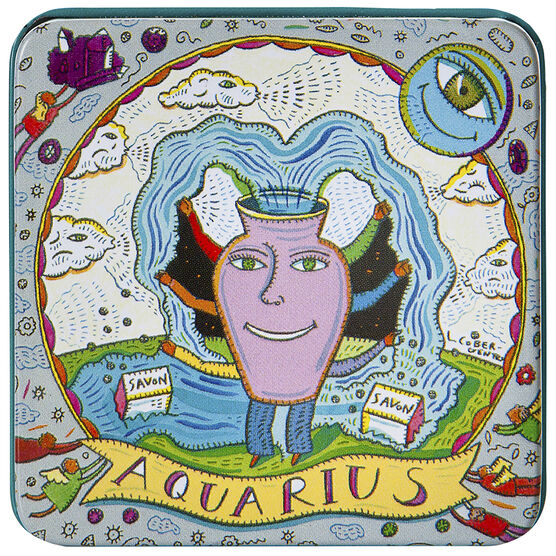 Zodiac Soap in Tin - Aquarius - 100g