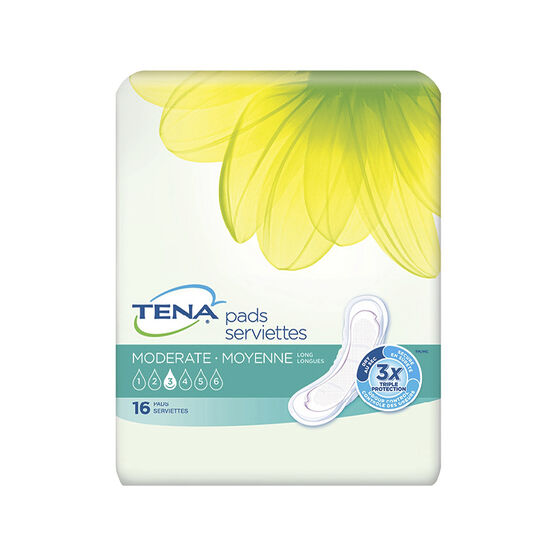 Tena Pads - Moderate Long - 16's
