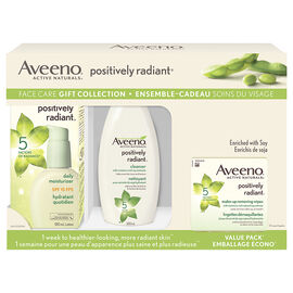 Aveeno Positively Radiant Face Care Gift Collection - 3 piece