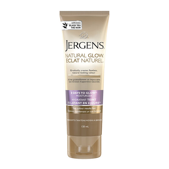 Jergens Natural Glow 3 Days to Glow Moisturizer - Medium to Tan - 120ml