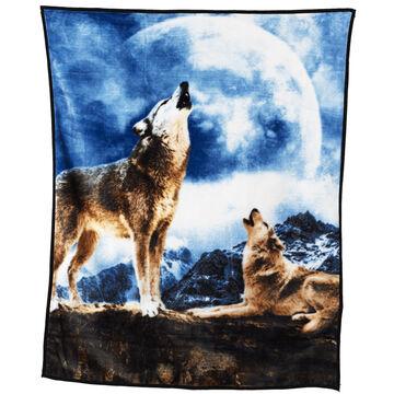 Fun Fur Throw - Moon Wolves