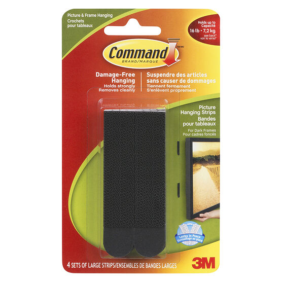 3M Command Damage Free Hangers - Black - Large