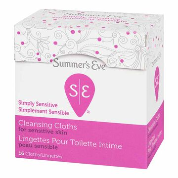 Summer's Eve Feminine Cleansing Cloths - 16 pack