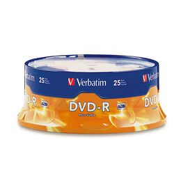 Verbatim DVD-R 4.7GB 16X Spindle - 25 pack