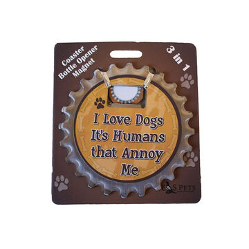 Pet Coaster - I Love Dogs It's Humans that Annoy Me