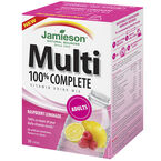 Jamieson Multi 100% Complete Vitamin Drink Mix Adults - Raspberry Lemonade - 30's