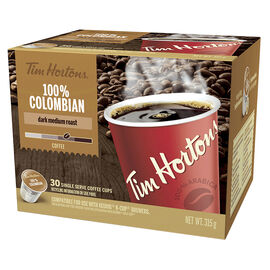 Tim Hortons - 100% Colombian - 30 Pack