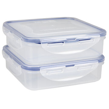 Starfrit Lock & Lock Square Container - 2 x 600ml