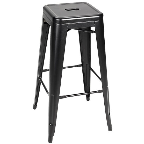 London Drugs Steel Bar Stool - Frosted  Black - 43 x 43 x 76cm