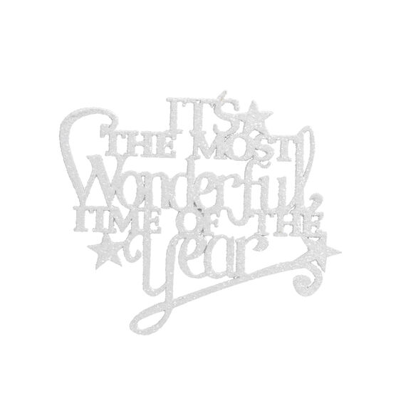 Winter Wishes It's The Most Wonderful Time Of The Year Ornament - 5in - XLD6009452FOB