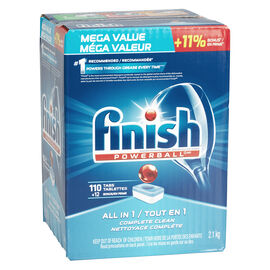 Finish Powerball All-in-One Dishwasher Detergent - Fresh - 110's