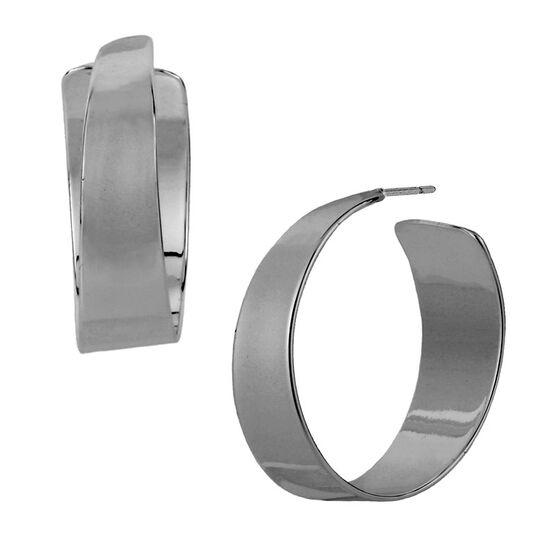 Robert Lee Morris Small Silver Hoop Earrings