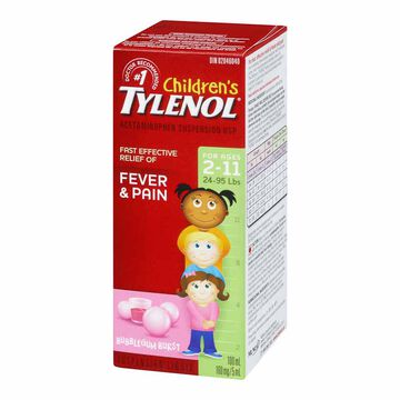 Tylenol Children's Suspension Liquid - Bubblegum Burst - 100ml