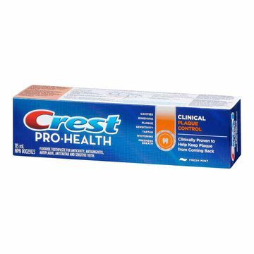 Crest Pro-Health Clinical Plaque Toothpaste - Fresh Mint - 115ml