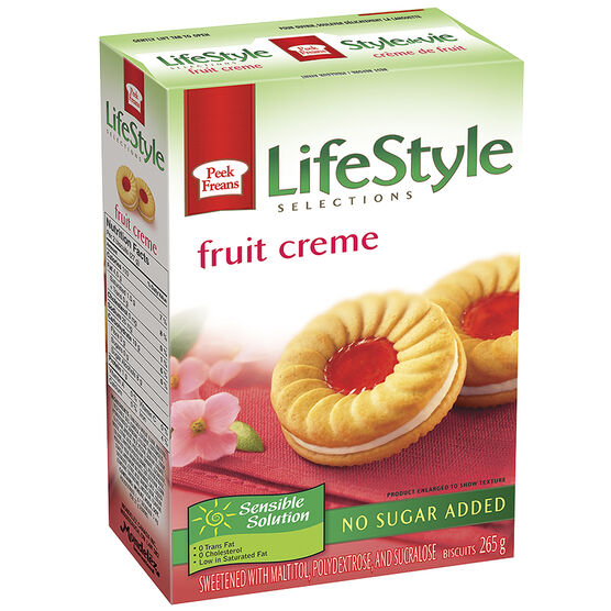 Peek Freans Lifestyle Selection Cookies - Fruit Crème - 265g