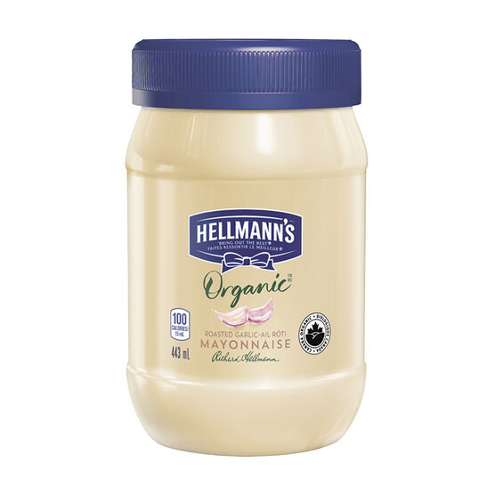 Hellmann's Organic Mayonnaise - Garlic - 443ml