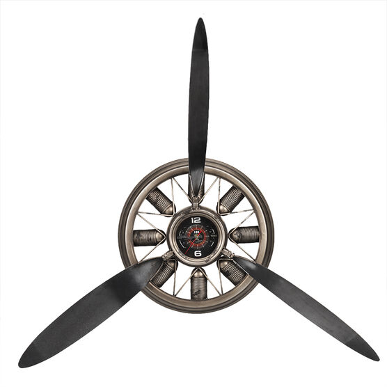 London Drugs Metal Propeller Blade Wall Clock - 95 x 13 x 85cm