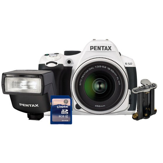 Pentax K-50 Value Kit - White - 19714