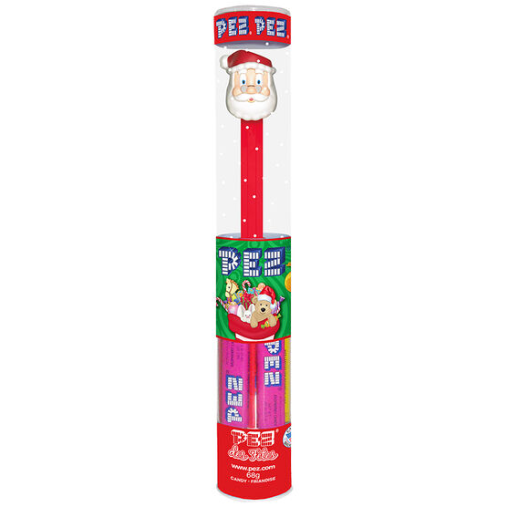Pez Christmas Dispenser with Refills - Assorted - 68g