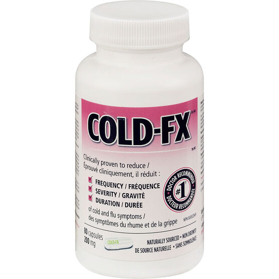 Cold-FX 200mg Bottle - 80's