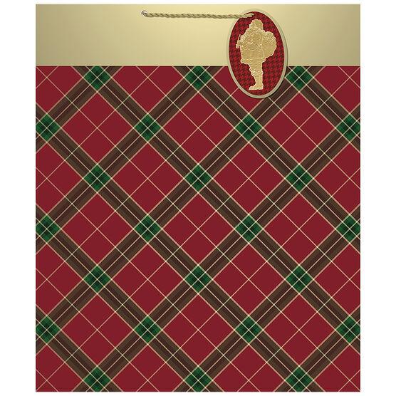 Hallmark Santa Gift Bag - Extra Large - Elegant Reds - 0499XGB1286