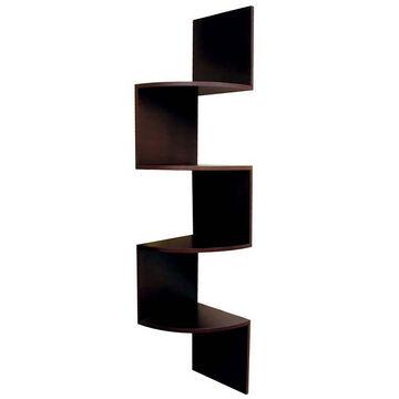 Provo Wood Corner Shelf - Walnut - 57 x 12 x 12inch