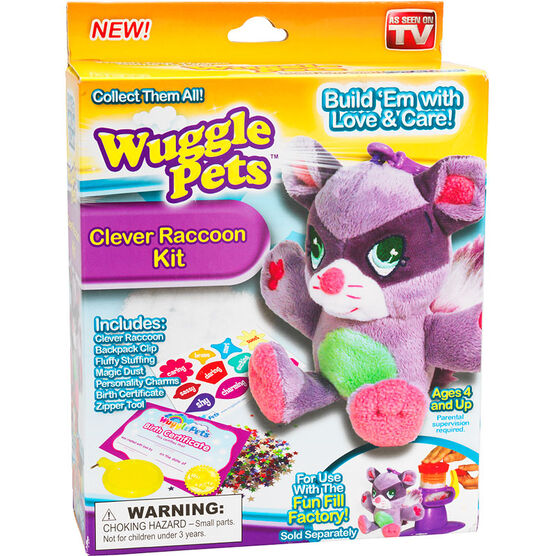 Wuggle Pets Clever Raccoon Kit