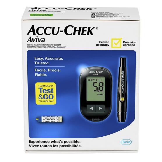 Roche Accu-Check Aviva Blood Glucose Monitoring System - Black