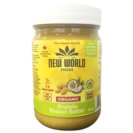 New World Organic Protein Peanut Butter - 365g