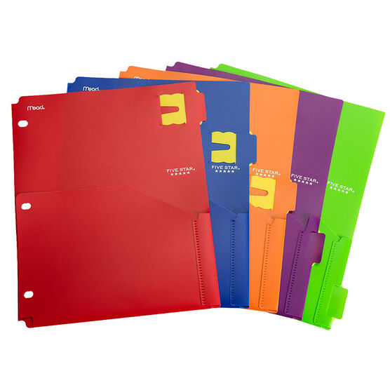 Five Star Three Hole Divider with Remind Tabs - Assorted