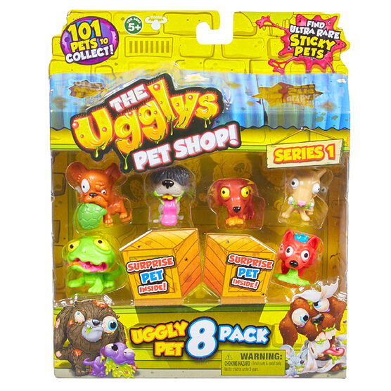 The Ugglys Pet Shop Series 1 Pets - Assorted - 8 pack