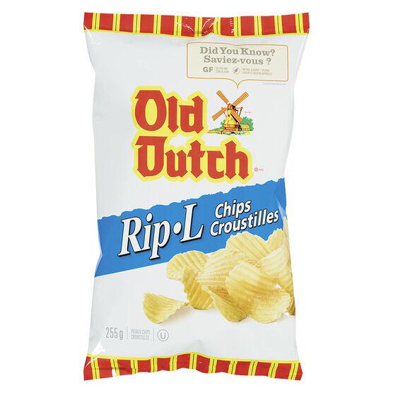 Old Dutch Rip-L Chips - Original - 225g