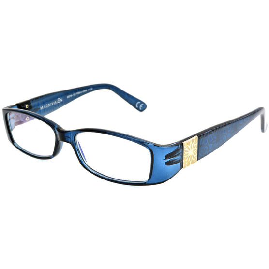Foster Grant Posh Blue Women's Reading Glasses - 1.25