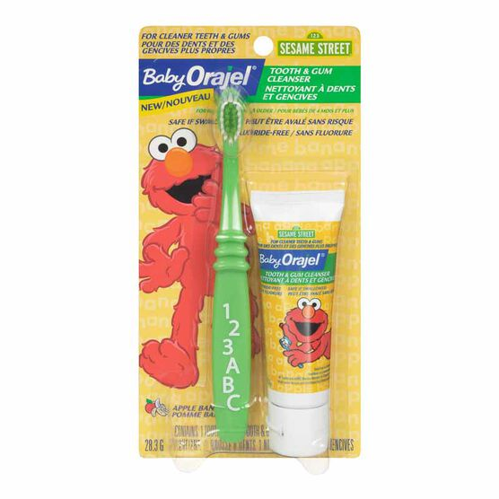 Baby Orajel Tooth & Gum Cleanser with Baby-sized Brush - Apple Banana - 28.3g