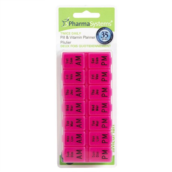 PharmaSystems uMedPlan Twice Daily Pill & Vitamin Planner - PS285