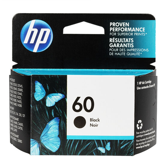 HP 60 Ink Cartridge - Black - CC640WC140