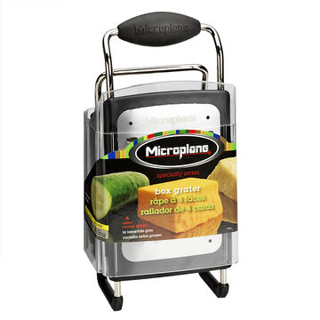 Microplane Box Grater 4 Sided - Black