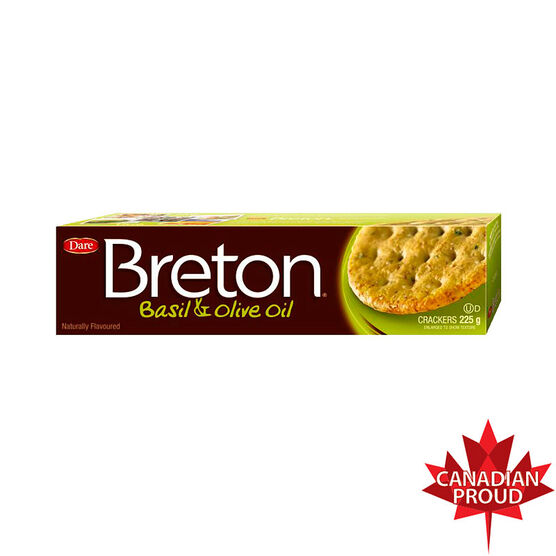 Dare Breton Crackers - Basil & Olive Oil  - 225g