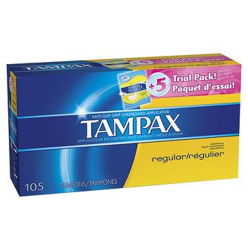 Tampax Tampons - Regular - 105's