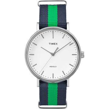 Timex Weekender Fairfield - Silver/Blue/Green - TW2P90800ZA