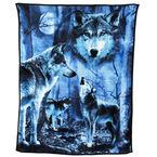 Fun Fur Throw - Night Wolves