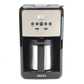 Krups Savoy Thermal Coffee Maker - Black and Silver