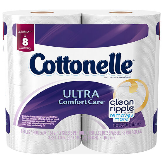 Cottonelle ULtra Comfort Bathroom Tissue Double Rolls - 4's