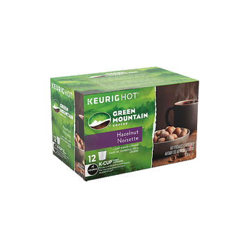 K-Cup Green Mountain Light Roast Coffee - Hazelnut - 12 Servings